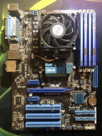 Материнская плата Asus m4a77td + 8gb HyperX + процессор