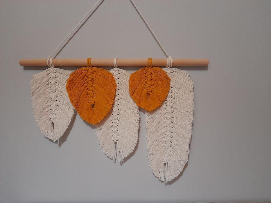 Dekoracja pióra/liście makrama Chojnice - image 1