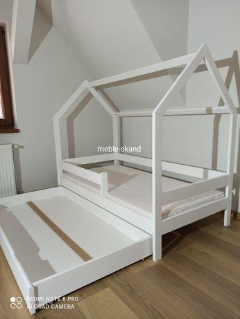 DOSTĘPNE OD RĘKI - 160x80 Łóżko domek białe z SZUFLADĄ