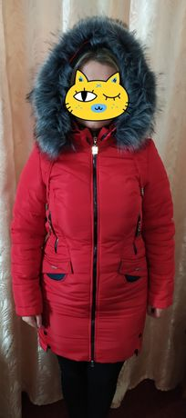 Нова зимова куртка+шарф хомут в подарунок!