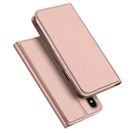 Capa Livro Horizontal Dux Ducis Iphone X E Xs - Rosa