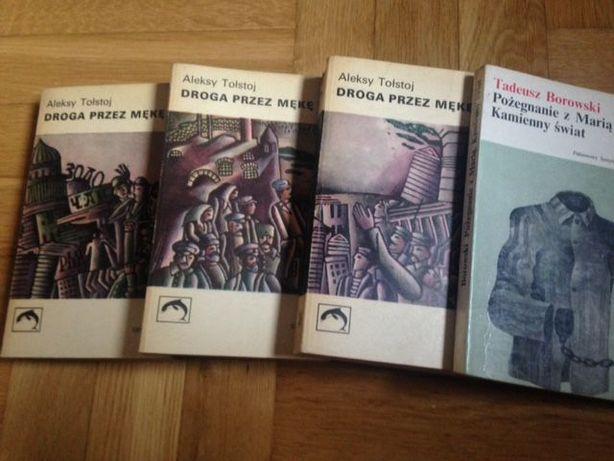 Aleksy Tołstoj oraz Tadeusz Borowski - cztery książki w dobrym stanie