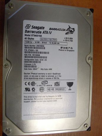 "Вінчестер HDD Seagate 40Gb 3.5"" IDE"