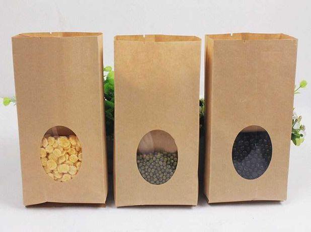 Эко Крафт Пакеты - Крафтовые Бумажные, с Логотипом, Саше 220х80х380