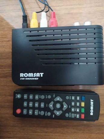 Ресивер (приемник) Т2 цифрового телевидения Romsat TR-9100HD