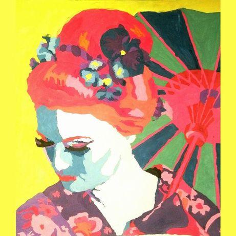 Obrazy ręcznie malowane - farby akrylowe, akwarele - tanio