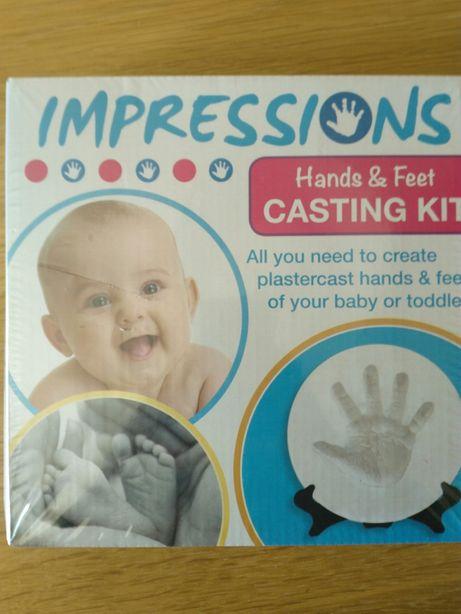 Conjunto mão/pé bebé 3D