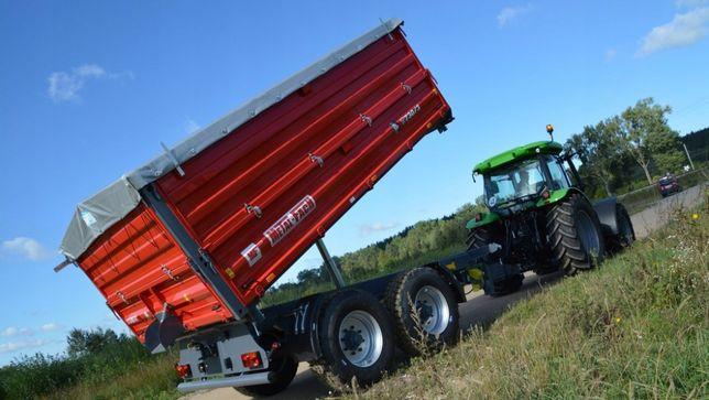 Przyczepa Rolnicza Tandem Metal-Fach T730/3 12 ton Wywrotka