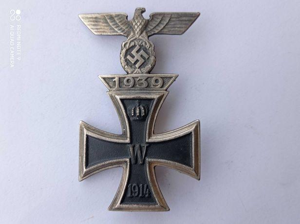 Niemiecka odznaka krzyż żelazny z gapą 1914 W 1939.