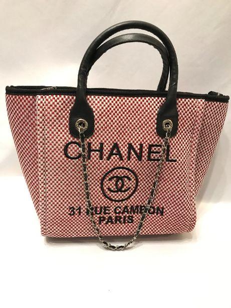 Chanel torba torebka usztywniana A4 czerwony