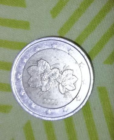 Moeda 2 euros rara Finlândia 2002