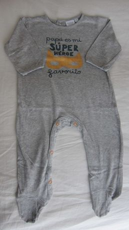 Babygrow Cinza menino Cotton Juice 6-12 meses
