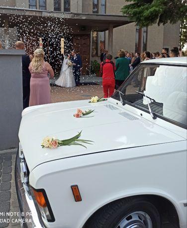 Ślub auto Fiat 125p