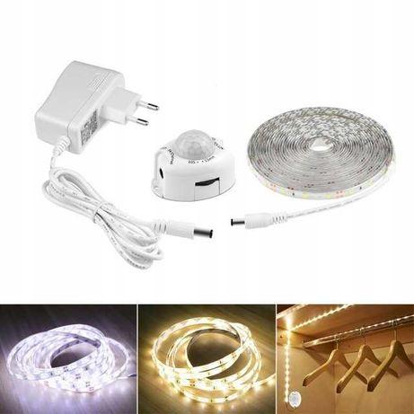 SUPER Taśma LED z czujnikiem ruchu na wtyczkę - 5m