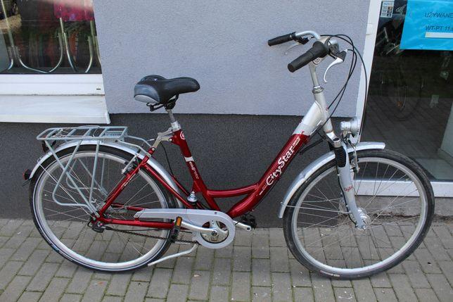 """Rower miejski AluCityStar, 50 cm, 28"""", Alu, Rama Amortyzowana, SRAM 7"""