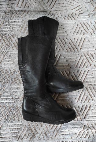 41р Кожаные высокие зимние сапоги на подкладке, женские сапожки