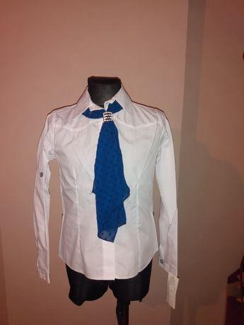 Koszula dziewczęca + krawat