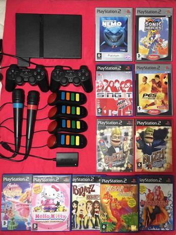 Playstation 2/ PS2 Slim - Microfones Singstar PS2 PS3 - Buzz - JOGOS