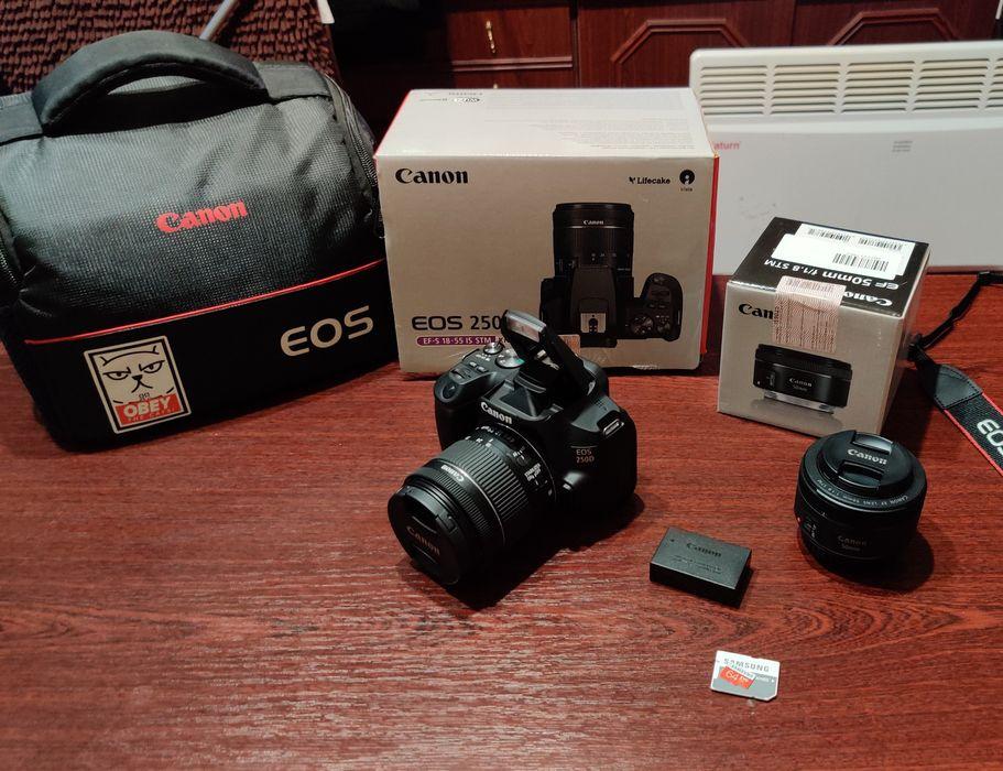 Фотоаппарат Canon 250d + портретный объектив , EF-S 18-55 is stm kit Днепр - изображение 1