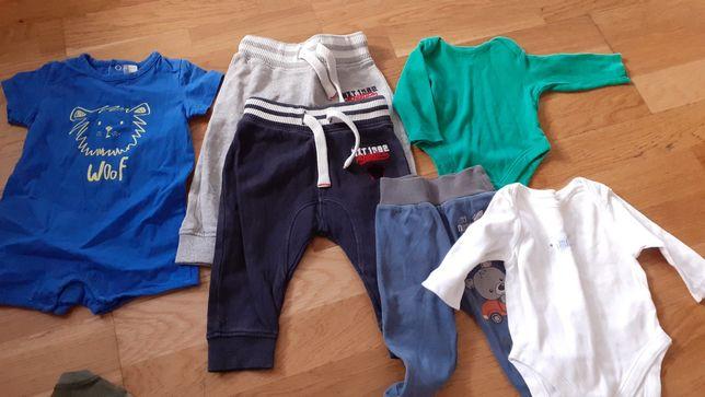 Zestaw ubranka paka chłopiec 62-74