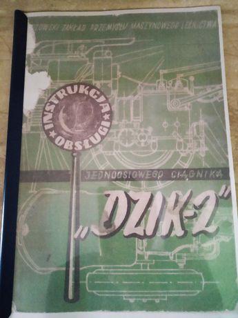 Instrukcja obsługi ciągnika jednoosiowego Dzik-2.