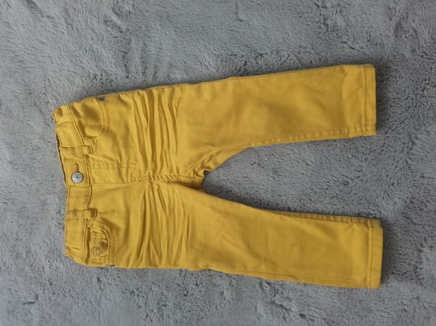 Musztardowe jeansy H&M r. 80
