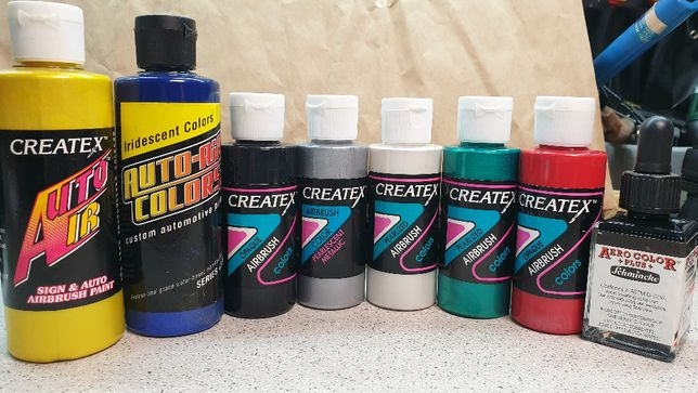 Tintas Createx - airbrushing