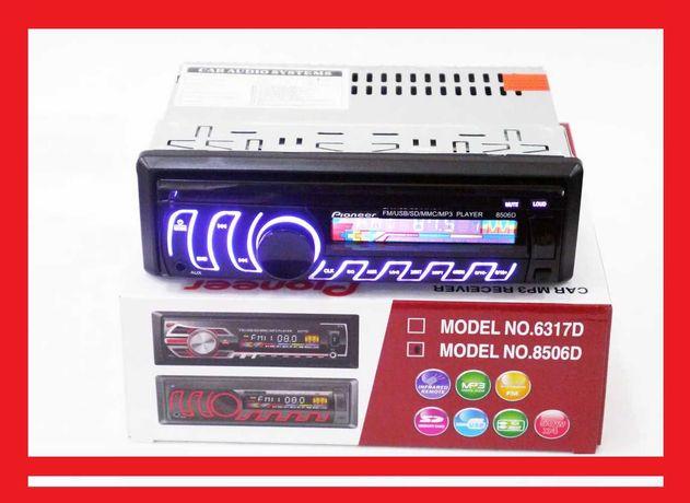 Автомагнитола Pioneer 8506D Usb+RGB подсветка+Fm+съемная панель +Aux