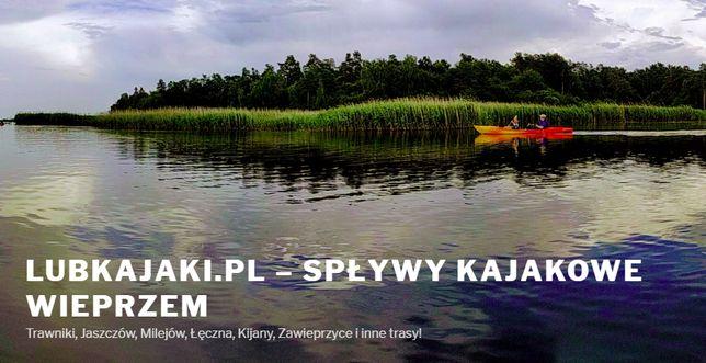 Wypożyczalnia kajaki spływy Wieprz, Trawniki, Milejów, Łęczna, Kijany