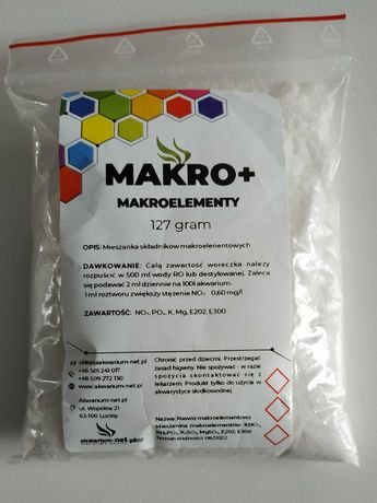 Nawóz makro plus magnez. Makroelementy do akwarium.
