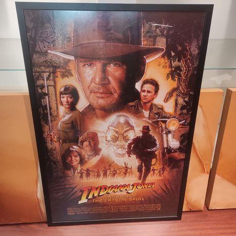 Poster Indiana Jones com moldura