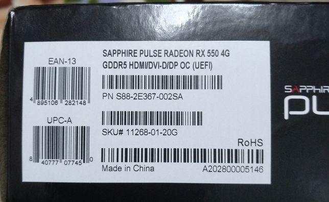 Radeon rx 550 4gb gddr 5