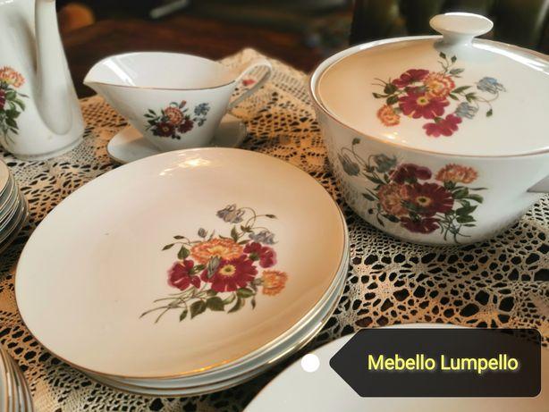 KAHLA GDR porcelana zestaw obiadowy śniadaniowy komplet 6 osób