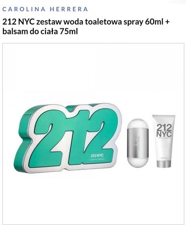 Vip 212 herrera perfumy woda toaletowa zel zestaw