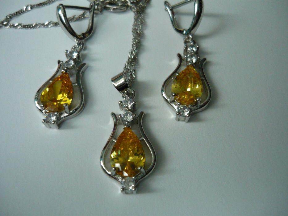 Wyprzedaż ! Komplet biżuterii pr.925 żółty Siedlce - image 1