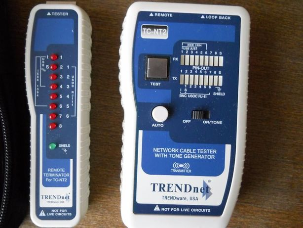 Тестер для сетевых кабелей TRENDnet tc-nt2