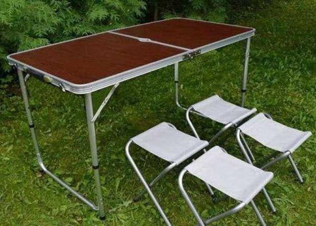 Раскладной стол для пикника и 4 стульчика. Низкая Цена !