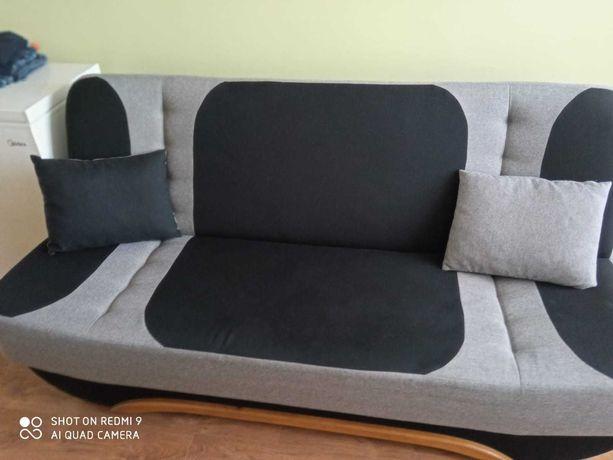Sofa rozkładana wersalka kanapa poduszki