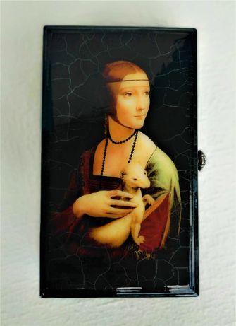 Шкатулка/купюрница «Дама с горностаем»