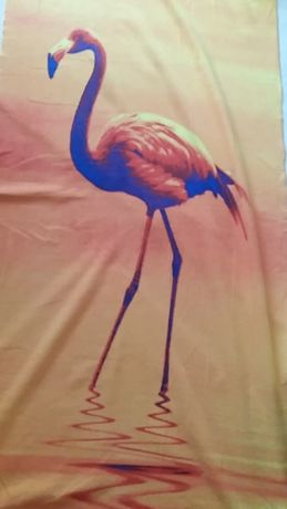Toalha com flamingo