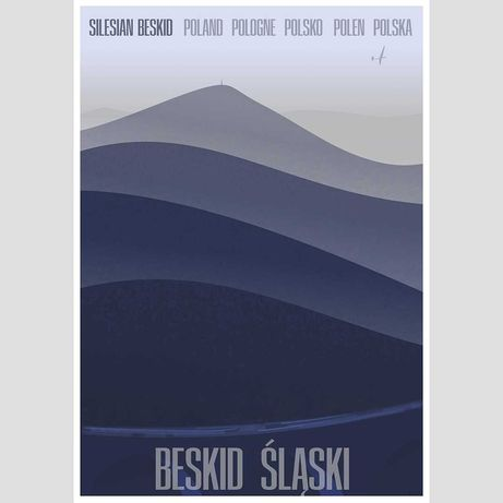 Beskid Śląski - grafika plakat