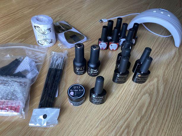 Kit para unhas gel / verniz gel com broca e catalisador UV