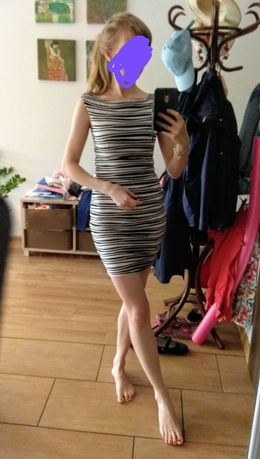 Lipsy London sukienka bandażowa r. 32-34/XS (bardzo dopasowana)