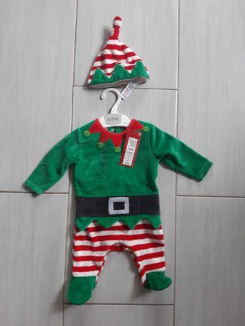 Kostium Elf z czapką  M&S 0- 3 miesięcy