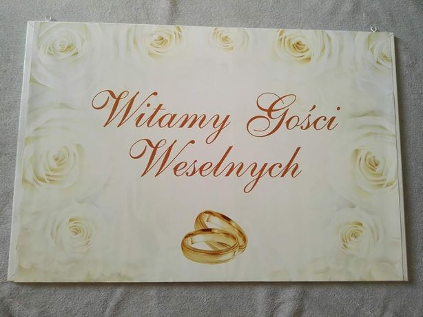 """Tablica """" Witamy gości weselnych"""" wesele ślub"""
