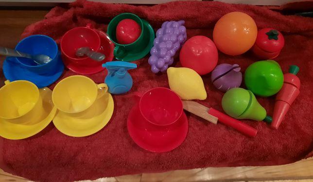Іграшки фрукти посуд