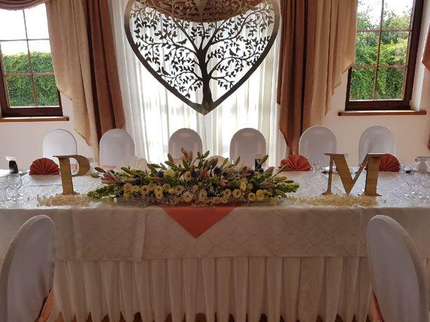 Ozdoba Serce na sale weselną