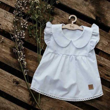 Biała sukienka do chrztu chrzest rozmiar 68 Hey Hola