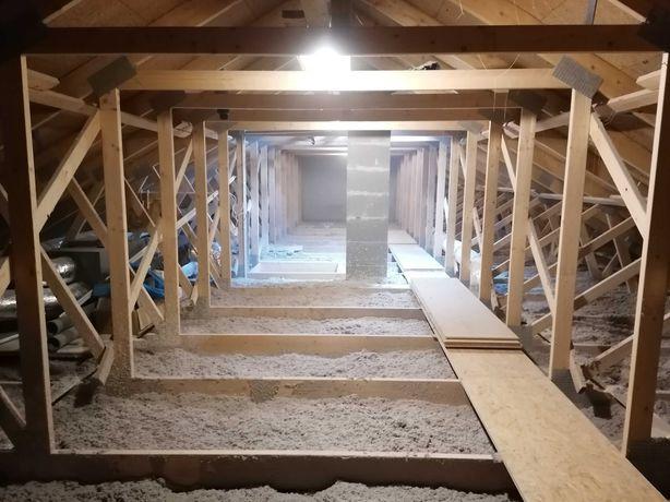 Izolacje wdmuchiwane, celuloza, ocieplenia stropów, naprawa izolacji