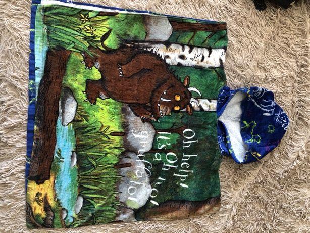 Пляжное полотенце пончо детское яркое